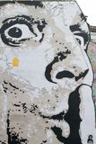 Peinture murale de Dali à la fontaine de Stravinsky Photos stock
