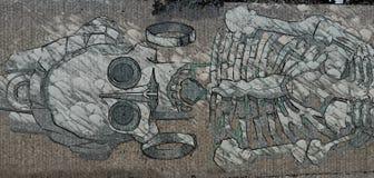 Peinture murale de diamètre de los muertos illustration libre de droits
