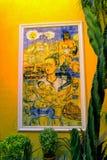 Peinture murale de Frida Kahlo à Valladolid, Mexique photos libres de droits