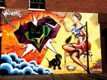 Peinture murale de graffiti Photo libre de droits