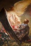 Peinture murale de Jésus et d'un ange image stock