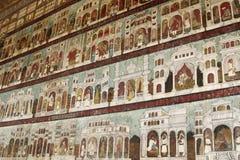 Peinture murale de mur au palais d'été de Sultan Tipu image stock