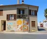 Peinture murale de mur dans San Sperate Image libre de droits