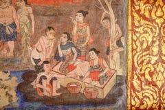 Peinture murale de mur de temple Photographie stock libre de droits