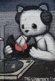 Peinture murale de mur sur le marché oriental Photographie stock