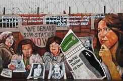Peinture murale de PRISONNIER DE GUERRE de route d'automnes Image libre de droits