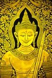 Peinture murale de Ramayana dans le temple thaïlandais Photos libres de droits