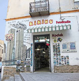 Peinture murale de rue dans Orgosolo Images libres de droits