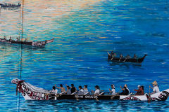 Peinture murale du nord-ouest de Natif américain photo stock