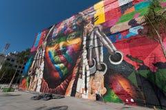 Peinture murale en Rio de Janeiro Image libre de droits