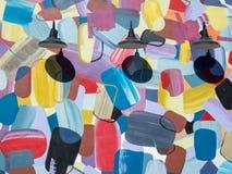 Peinture murale et lumières colorées Photographie stock libre de droits