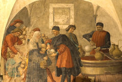 Peinture murale, Florence, Italie Images libres de droits