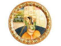 Peinture murale indienne de Mughal images libres de droits