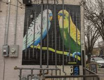 peinture murale 42 par Frank Campagna, Ellum profond, le Texas photos stock