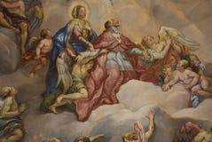 Peinture murale - priez Image libre de droits