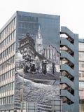 Peinture murale sur un bâtiment en George Street Glasgow image stock