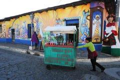 Peinture murale sur une maison chez Ataco au Salvador Image libre de droits