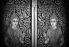 Peinture murale thaïe Photo libre de droits