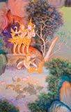Peinture murale thaïlandaise traditionnelle photos stock