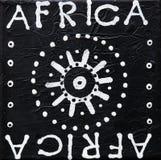Peinture noire et blanche afric Images libres de droits