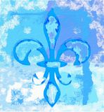 Peinture numérique de Fleur de lis Image stock