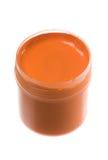 Peinture orange Images libres de droits