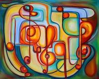 Peinture organique colorée Photographie stock libre de droits