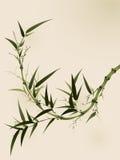 Peinture orientale de type, branchements en bambou Photo libre de droits