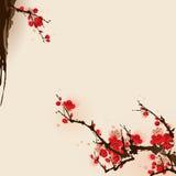Peinture orientale de type, fleur de plomb au printemps Photographie stock