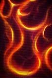 Peinture ornementale du feu sur le fond noir photos stock