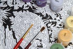 Peinture par des numéros Image libre de droits