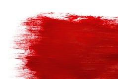 Peinture rouge Photographie stock libre de droits
