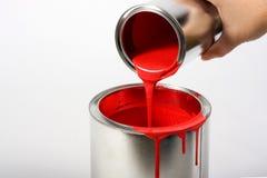 Peinture rouge image libre de droits