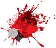 Peinture rouge Images libres de droits