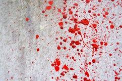 Peinture rouge Photographie stock