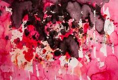 Peinture rouge abstraite d'égouttement Photo stock