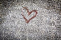 Peinture rouge de coeur Photo stock