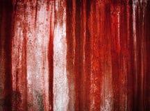 Peinture rouge grunge sur le mur Images libres de droits