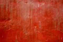 Peinture rouge sur le mur Photographie stock