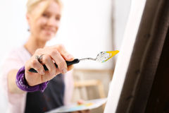 Peinture sur la toile Photo stock