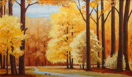 Peinture sur la toile Image stock