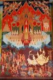 Peinture sur le mur dans l'église Image stock