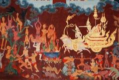 Peinture sur le mur dans l'église Photos stock
