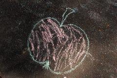 Peinture sur le trottoir Photographie stock libre de droits