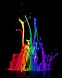 Peinture sur un haut-parleur Photographie stock libre de droits