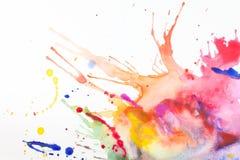 Peinture sur une feuille de papier image libre de droits