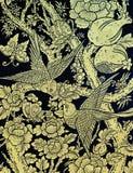 Peinture thaïe antique d'oiseau Photos libres de droits