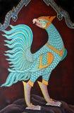 Peinture thaïe traditionnelle d'art dans Wat Phra Kaew Photographie stock libre de droits
