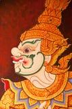 Peinture thaïe traditionnelle d'art de type de cru images libres de droits