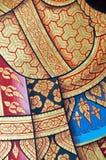 Peinture thaïe traditionnelle d'art de type de cru photo libre de droits